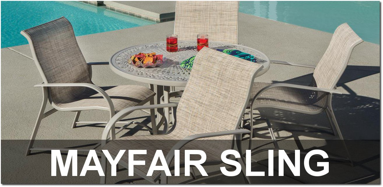Mayfair Sling Collection Outdoor Pool Furnishings