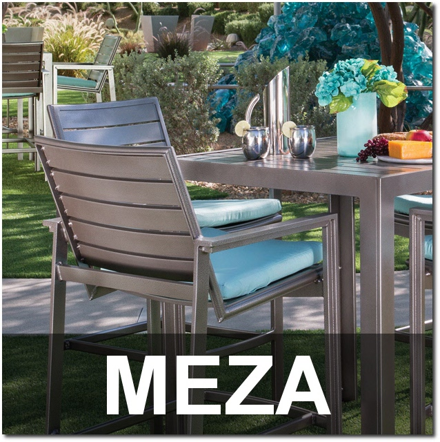 Meza Collection Aluminum Outdoor Dining Sets