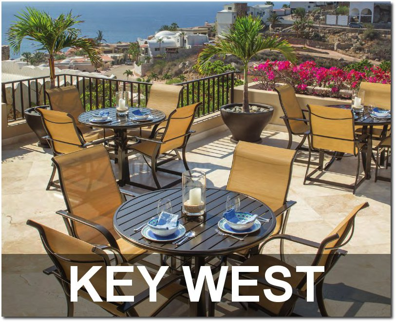 Keywest Sling Collection Commercial Patio Furnishings