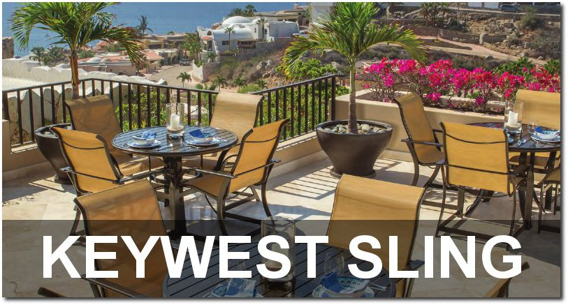 Keywest Sling Collection Outdoor Patio Furnishings