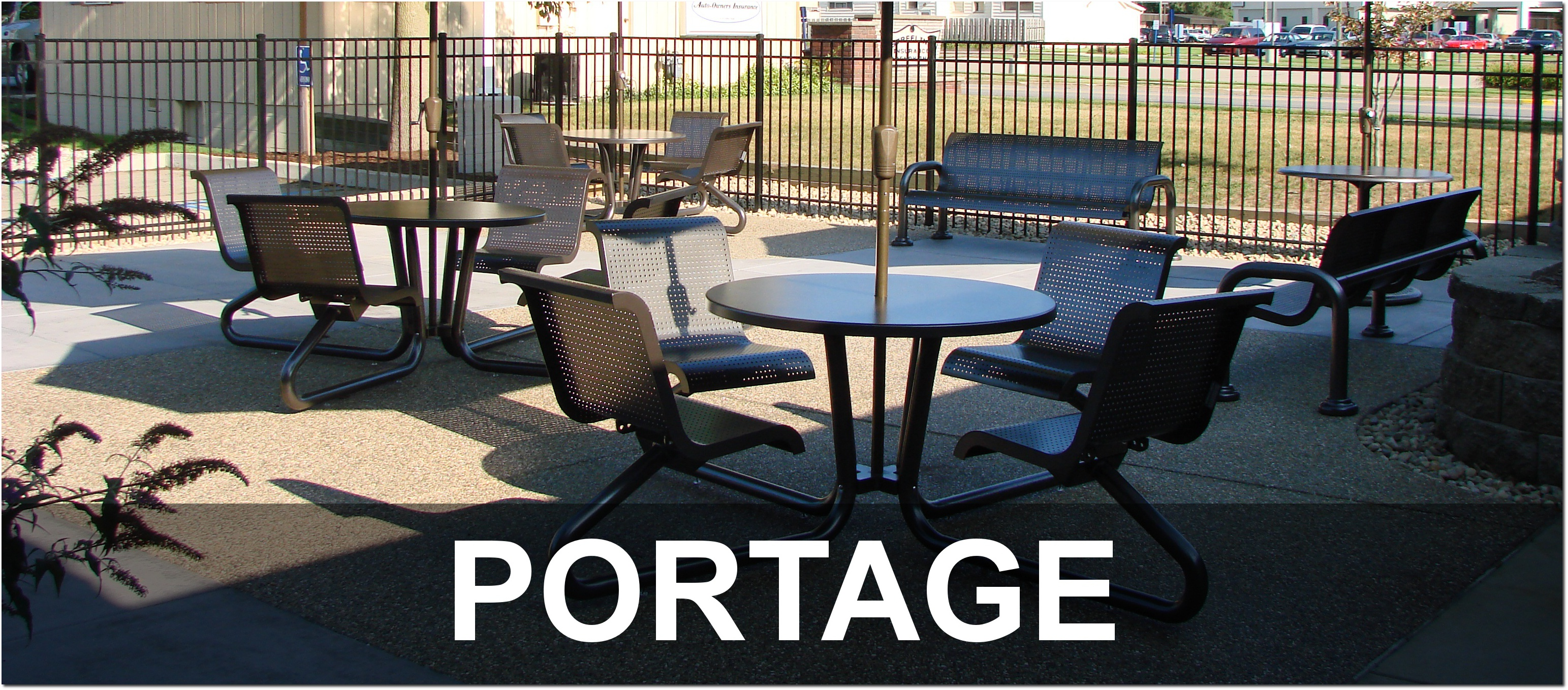 Portage Collection Contemporary Outdoor Commercial Site Furnishings