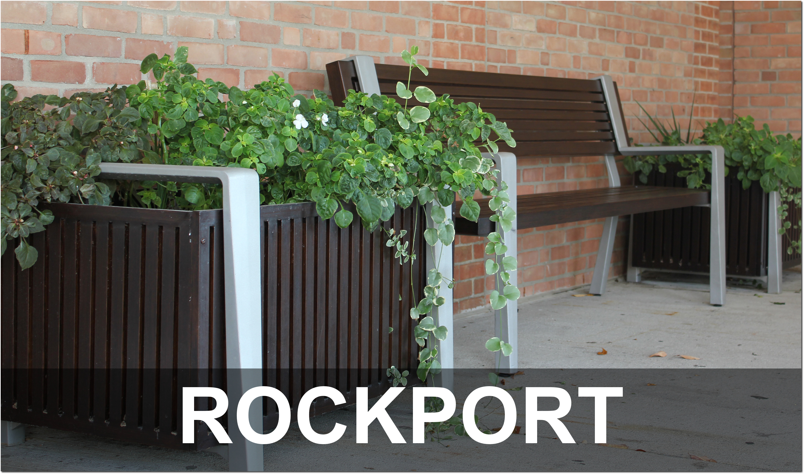 Rockport Collection Contemporary Outdoor Commercial Site Furnishings