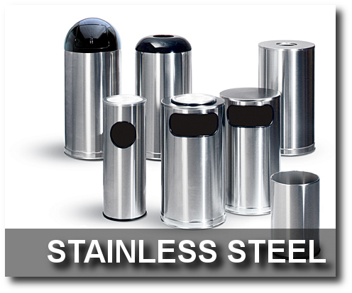 Stainless Steel Collection Trash Receptacles