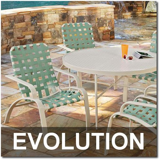 Evolution Collection Contemporary Outdoor Dining Sets