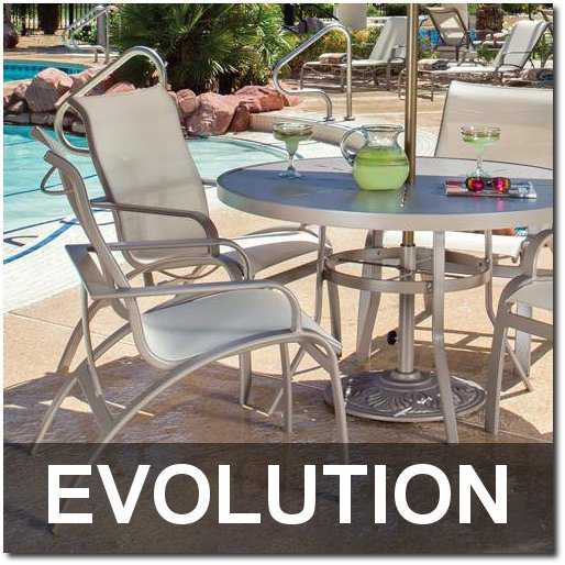 Evolution Collection Contemporary Poolside Furnishings