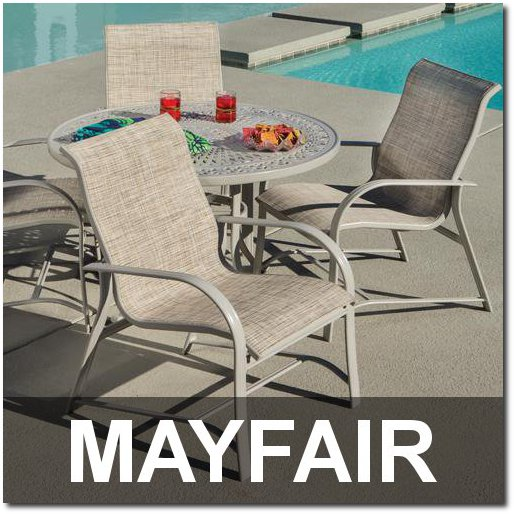 Mayfair Collection Contemporary Poolside Furnishings