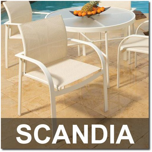 Scandia Collection Poolside Dining Sets