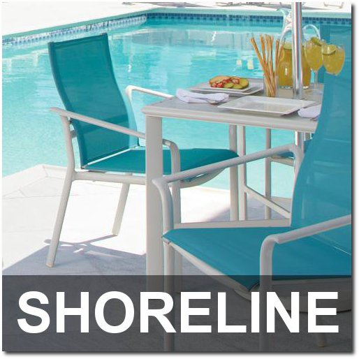 Shoreline Collection Poolside Dining Sets