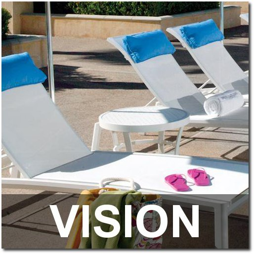 Vision Collection Outdoor Pool Furnishings