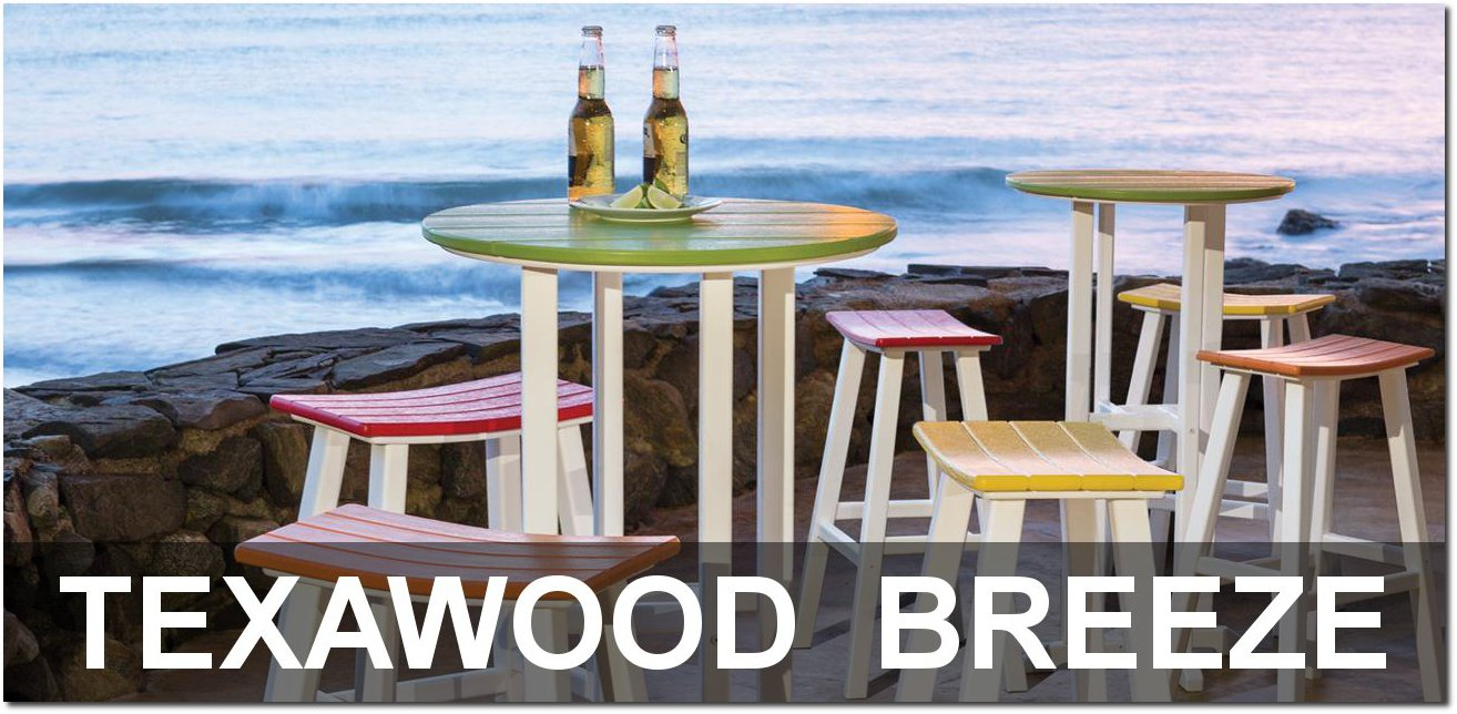 Texawood Breeze Collection Recycled Plastic Bar Sets