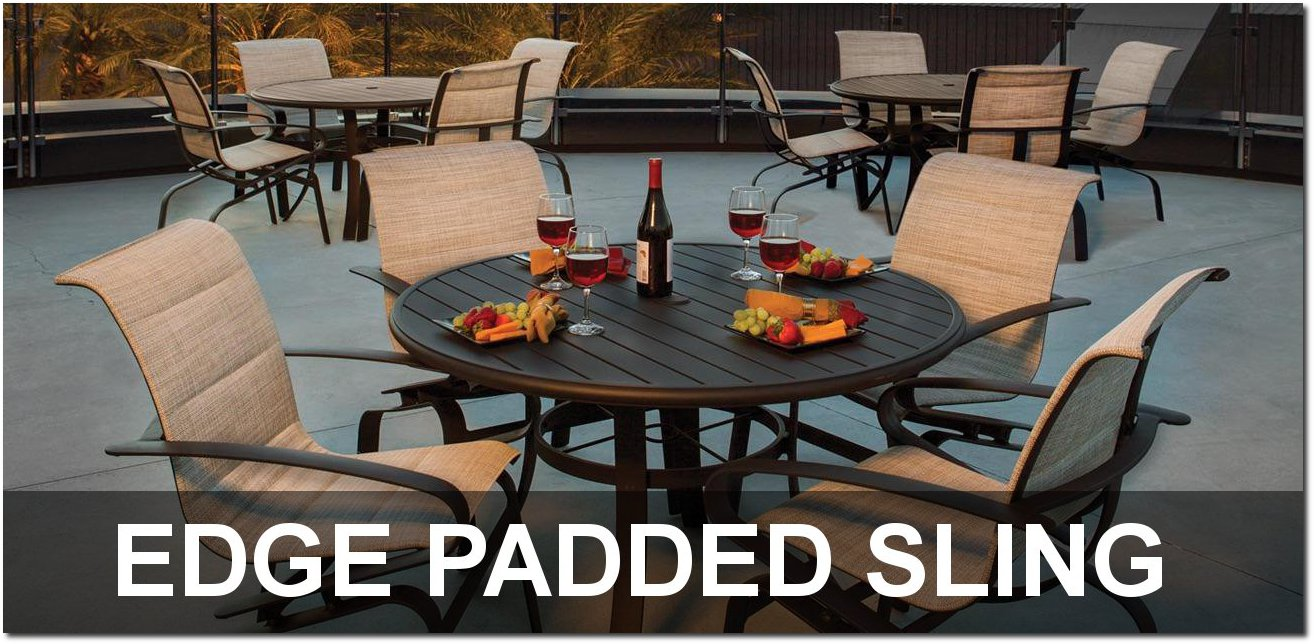 Edge Padded Sling Collection Poolside Furnishings