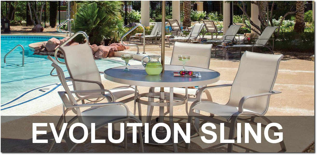 Evolution Sling Collection Poolside Furnishings