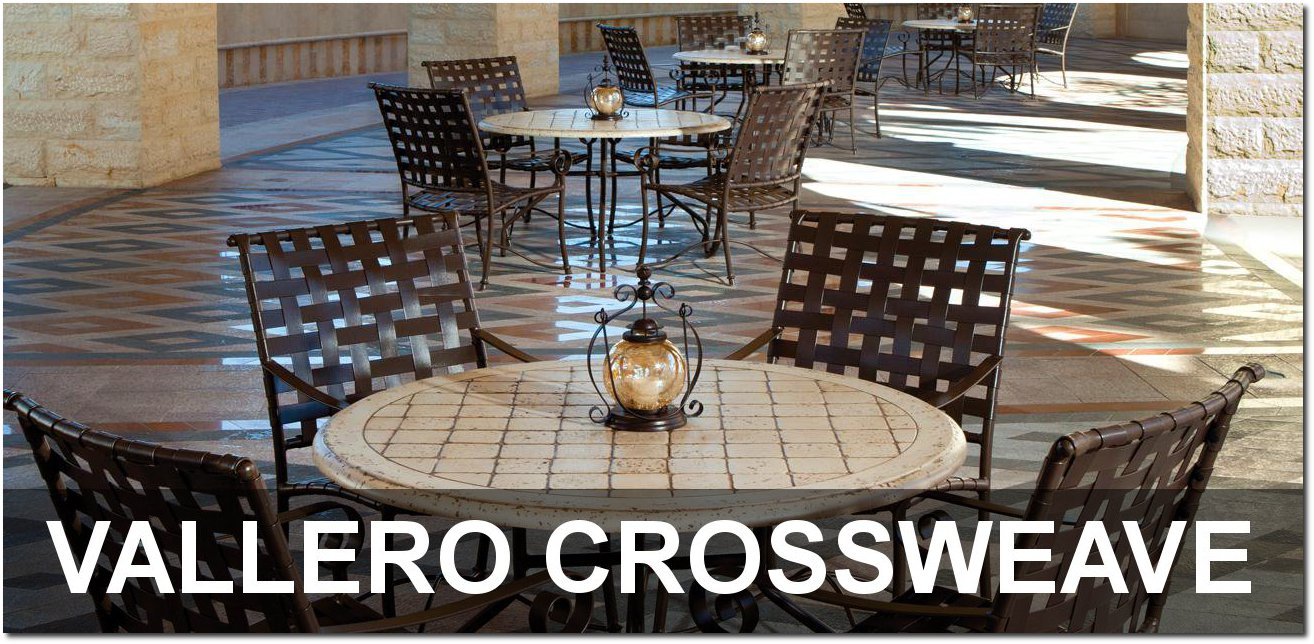 Vallero Crossweave Collection Elegant Outdoor Dining Sets
