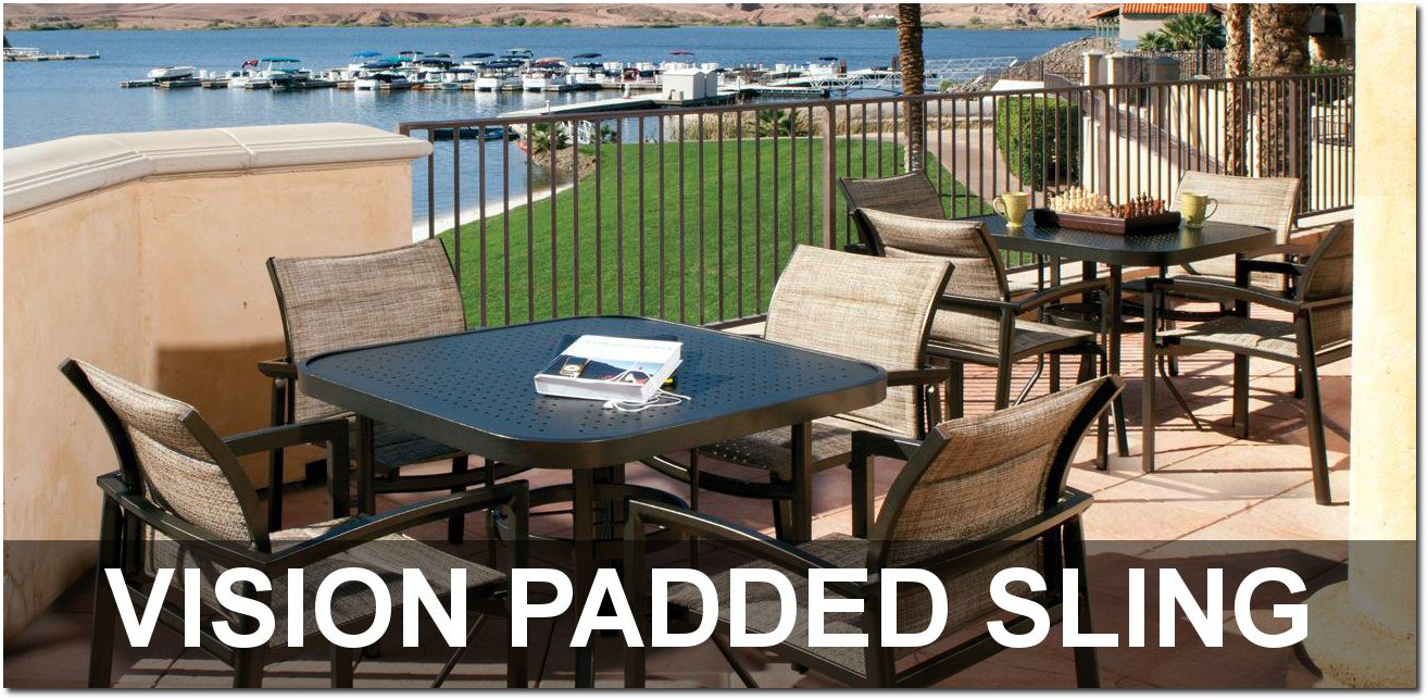 Vision Padded Sling Collection Outdoor Furnishings
