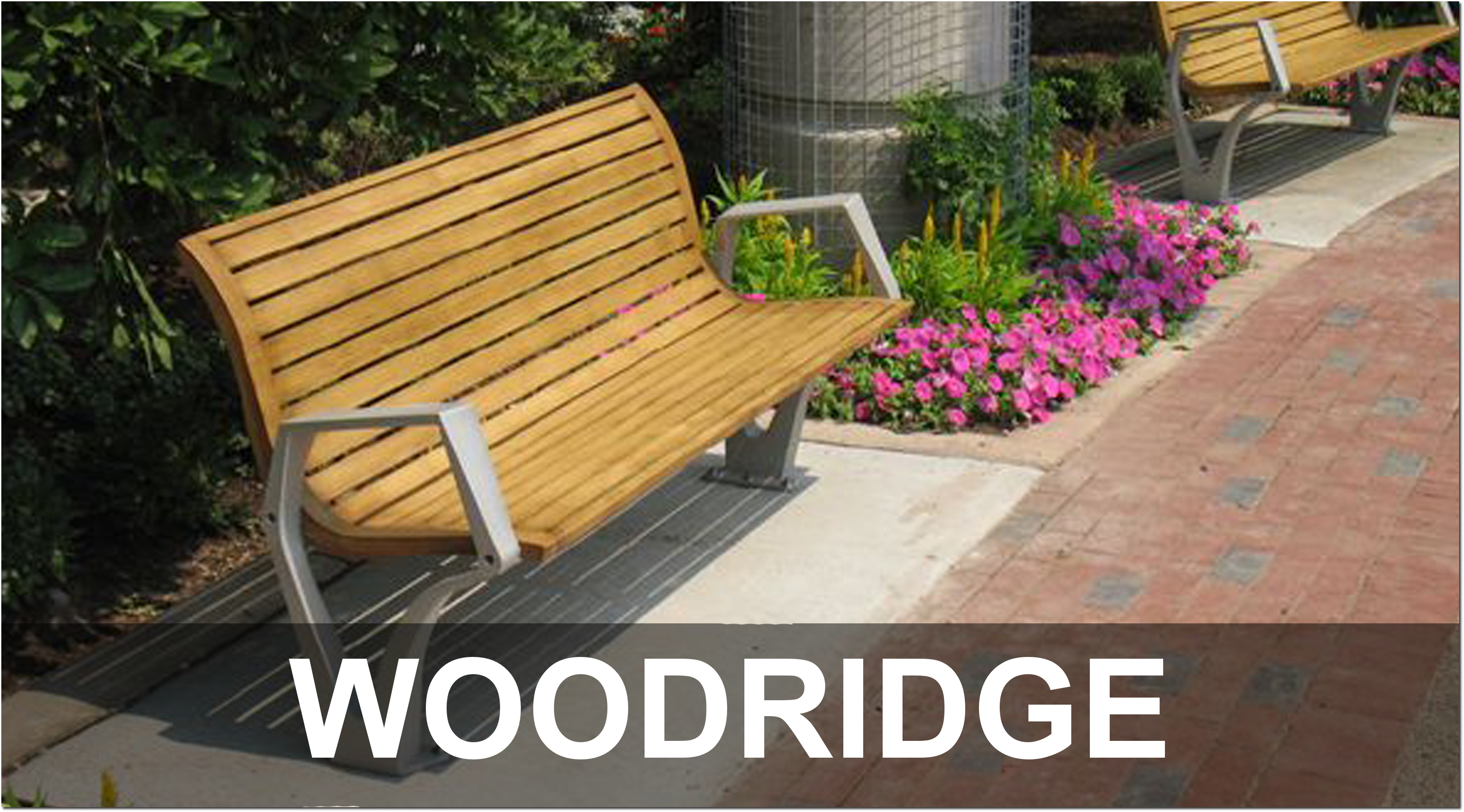 Woodridge Collection Contemporary Outdoor Park Benches