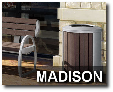 Madison Collection Trash Receptacles