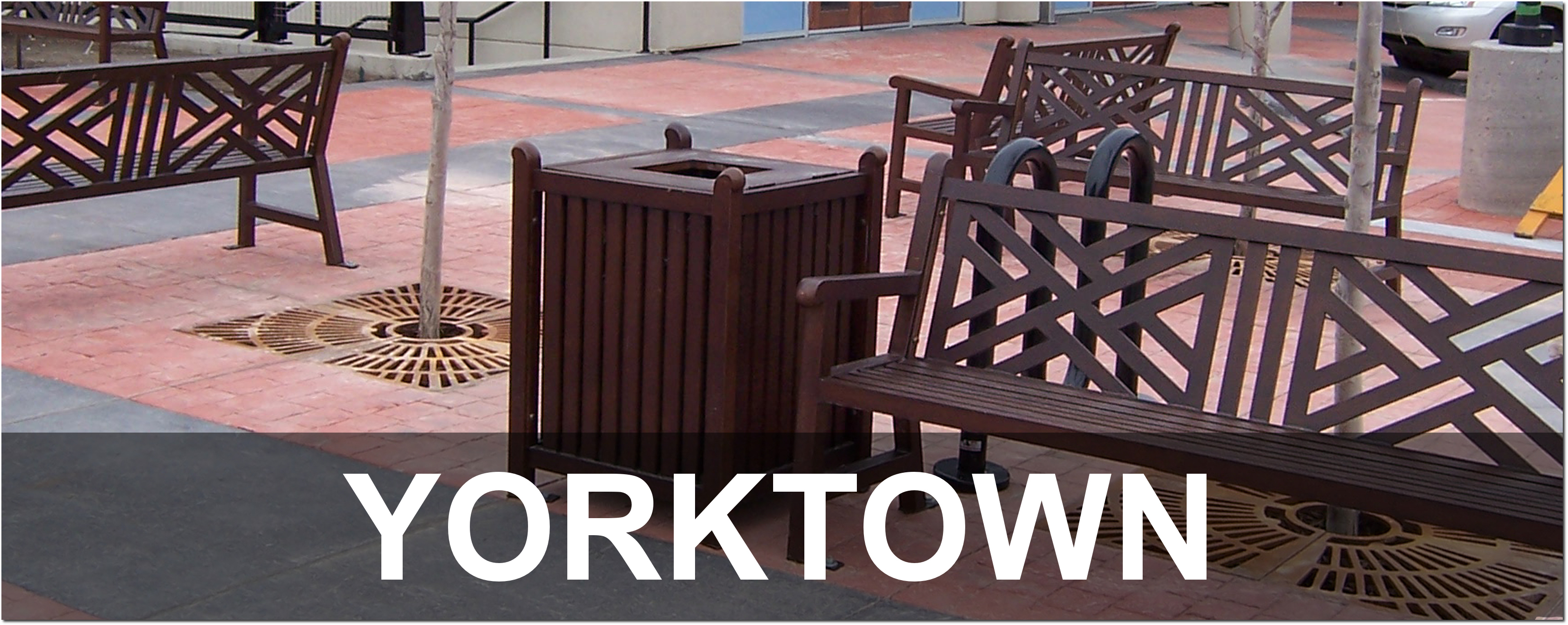 Yorktown Collection Traditional Outdoor Commercial Site Furnishings