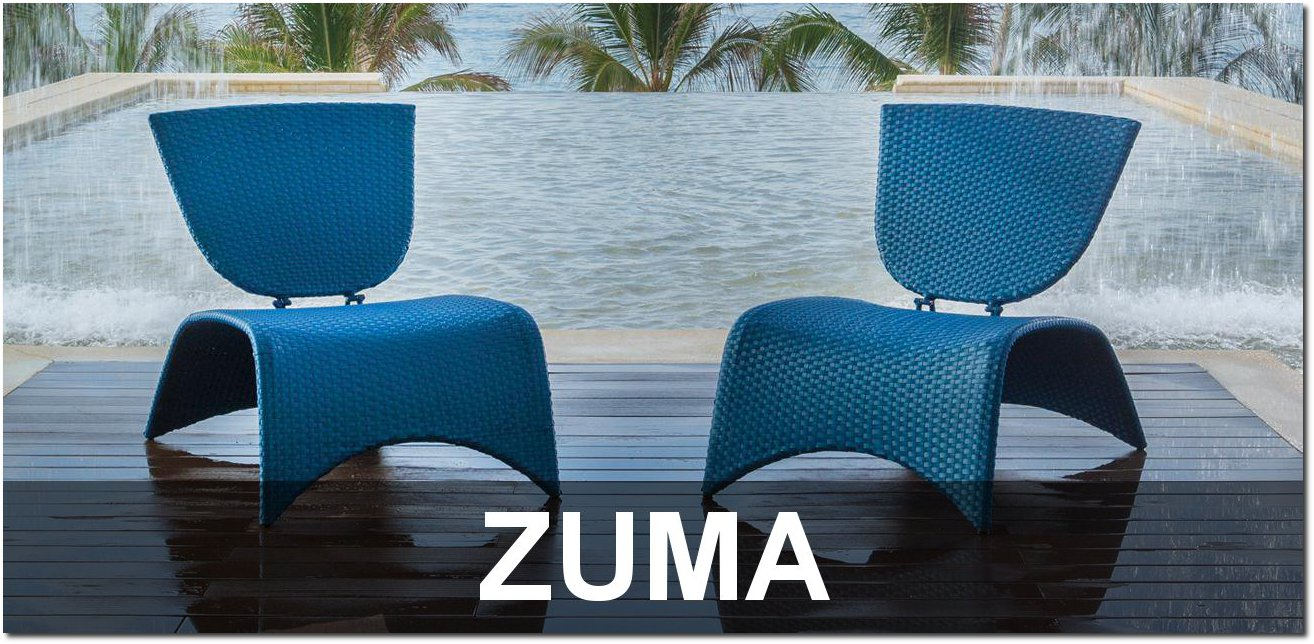 Zuma Collection Contemporary Pool Furnishings