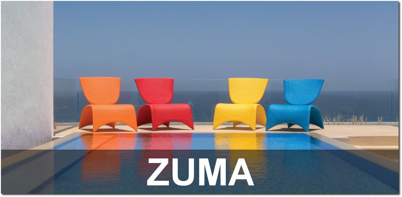 Zuma Collection Contemporary Outdoor Poolside Furnishings